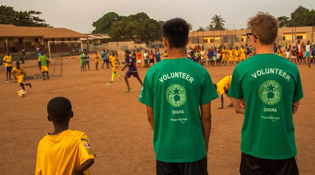 Volunteer as a soccer coach in Ghana and help coach local teams.